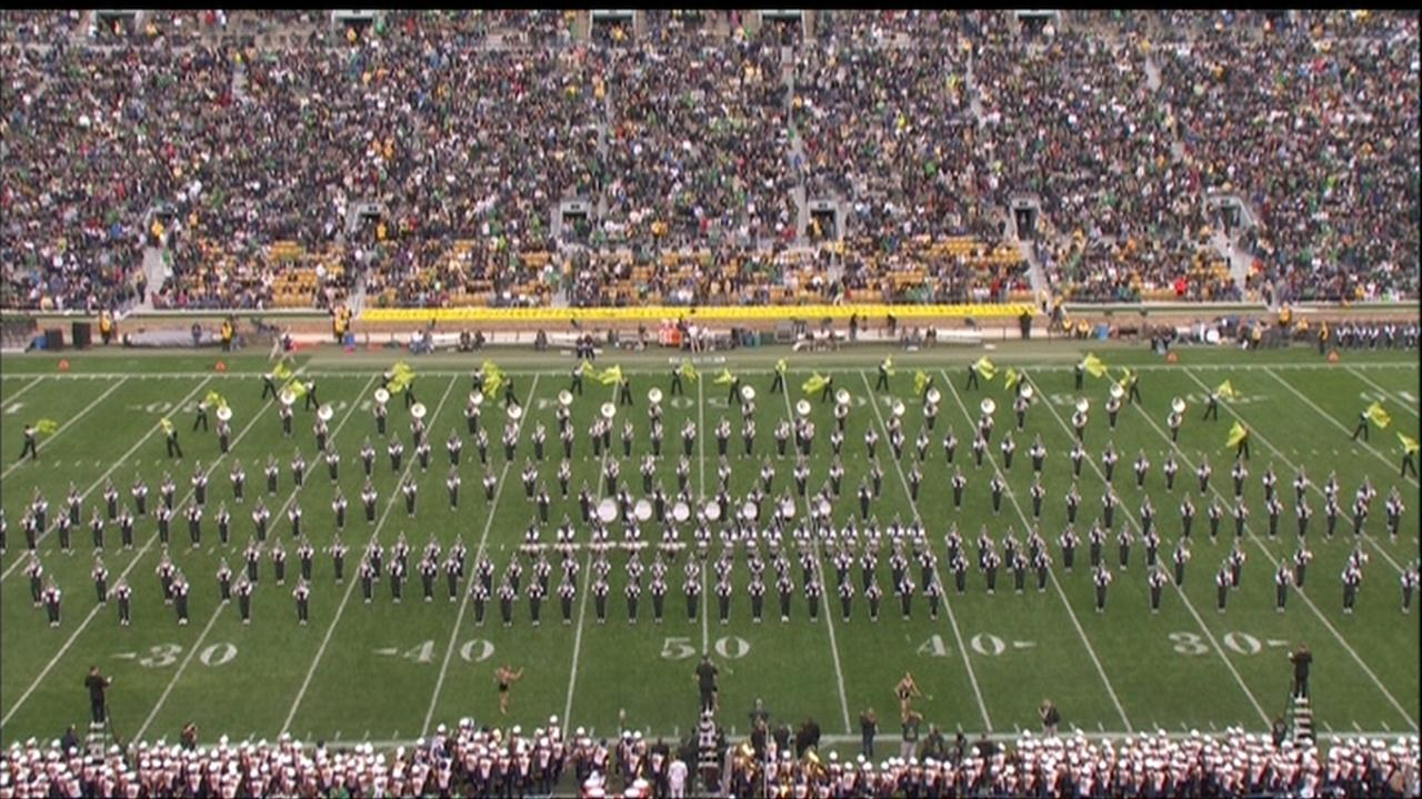 Michigan State S Band Performs In South Bend Nbc Sports